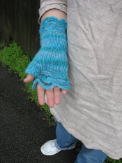 Half Moon Mitts knitted